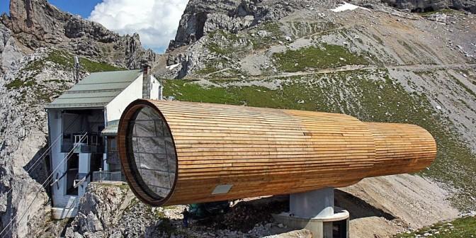 Flachdach Rhepanol auf der Karwendel Bergstation