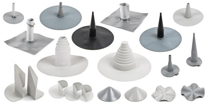 Dodatki za ravno streho - oblikovalski deli, prevodnice